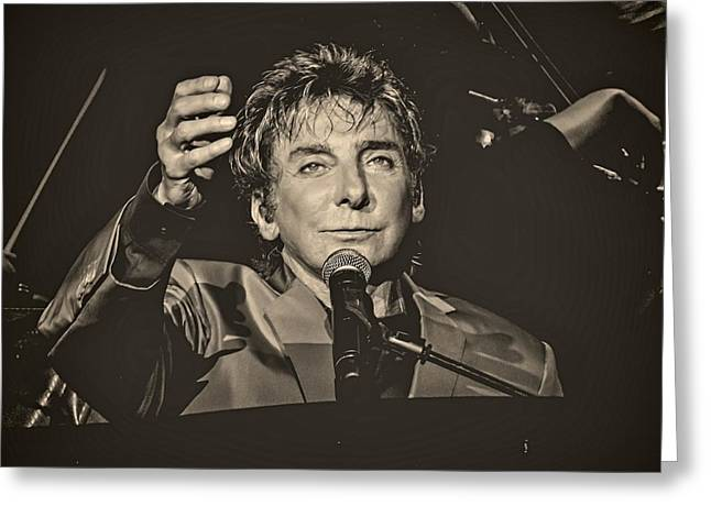 Barry manilow greeting cards fine art america barry manilow performance greeting card bookmarktalkfo Image collections