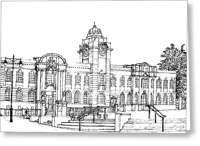 Barry Town Hall And Library Greeting Card