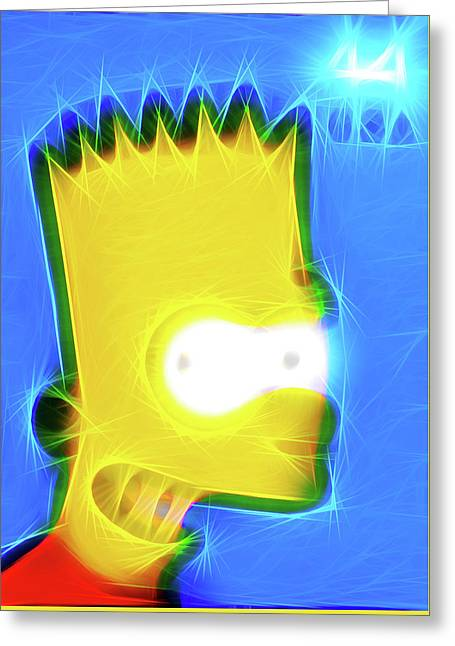 Bart Simpson Greeting Card by Lanjee Chee