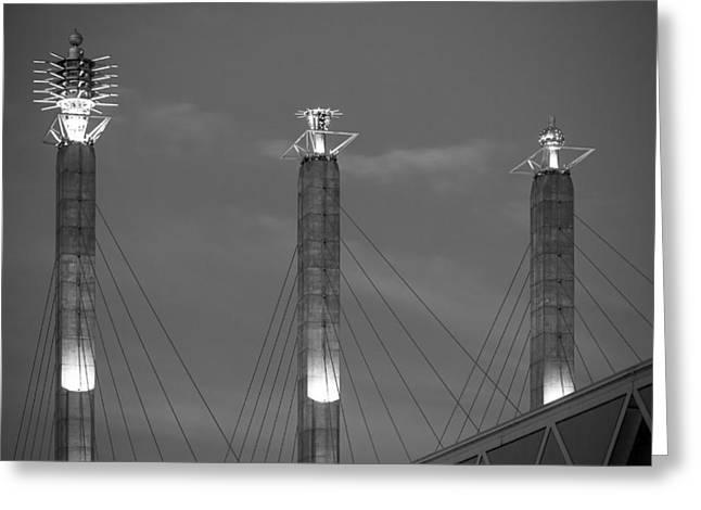 Bartle Hall Pylons Art Greeting Card