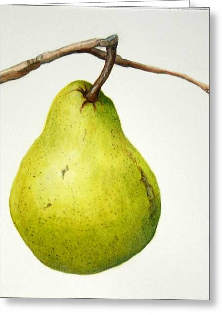Bartlett Pear Greeting Card by Margit Sampogna