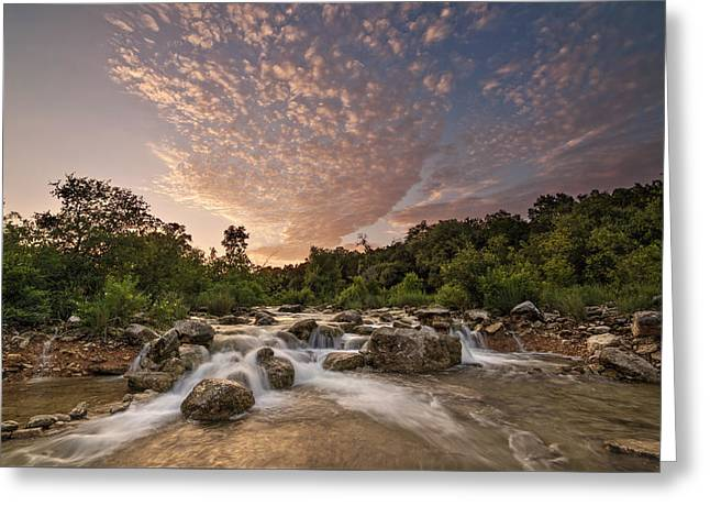 Barton Creek Greenbelt At Sunset Greeting Card