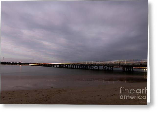 Greeting Card featuring the photograph Barwon Heads Bridge by Linda Lees
