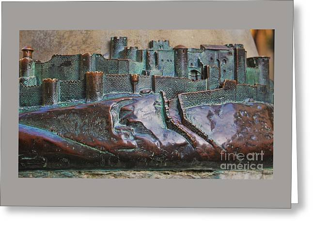 Bas Relief Of La Cite Greeting Card by Poet's Eye