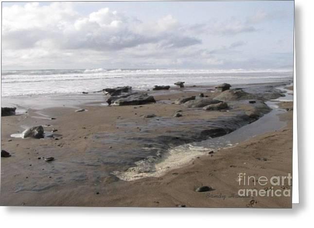 Basalt On The Beach Greeting Card