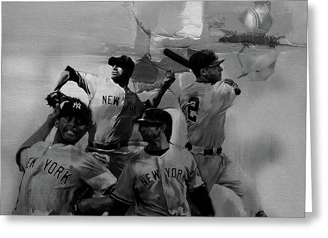 Base Ball Players Greeting Card by Gull G