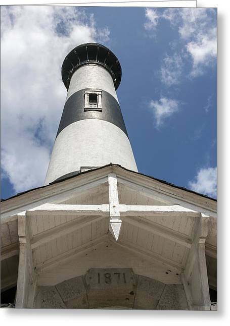 Base Of Bodie Island Lighthouse Greeting Card
