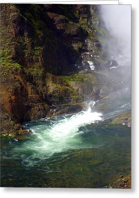 Marty Koch Greeting Cards - Base of the Falls 1 Greeting Card by Marty Koch