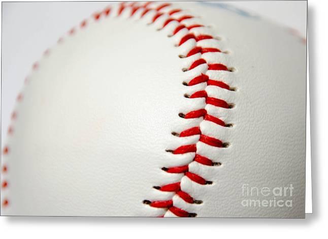 Baseball Greeting Card by Andrea Anderegg