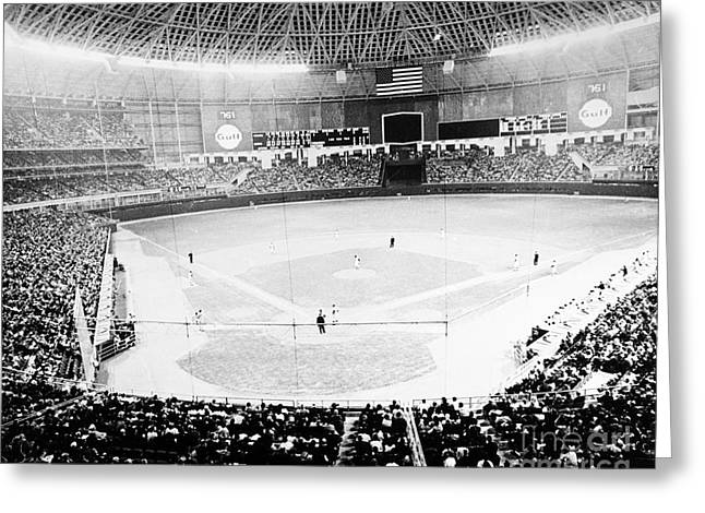 Astros Greeting Cards - Baseball: Astrodome, 1965 Greeting Card by Granger