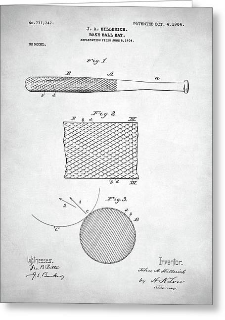 Baseball Bat Patent Greeting Card