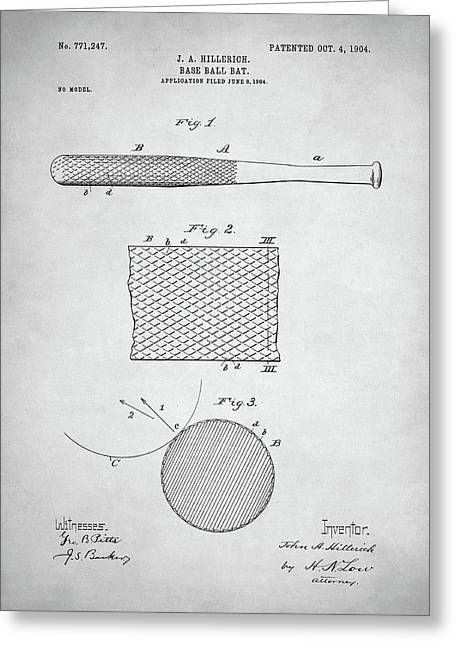 Baseball Bat Patent Greeting Card by Taylan Apukovska