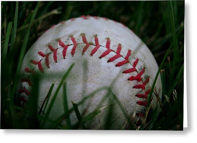 Baseball Greeting Card by Diane Reed