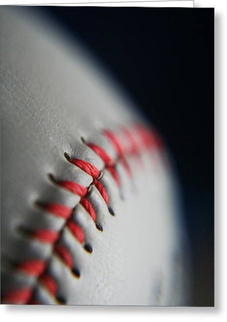Baseball Fan Greeting Card by Rachelle Johnston