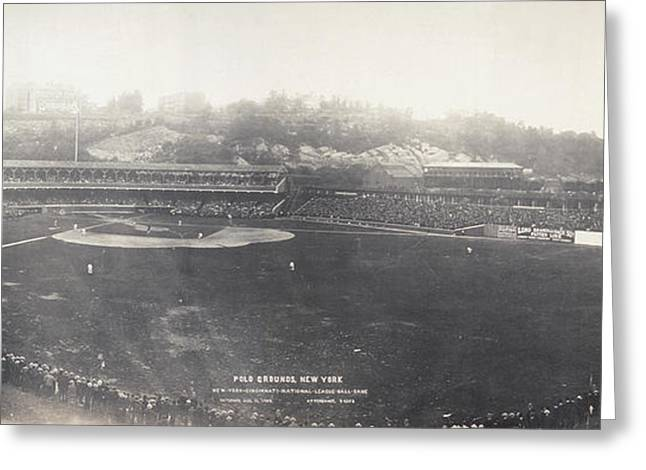 Polo Grounds Greeting Cards - Baseball Game, 1904 Greeting Card by Granger