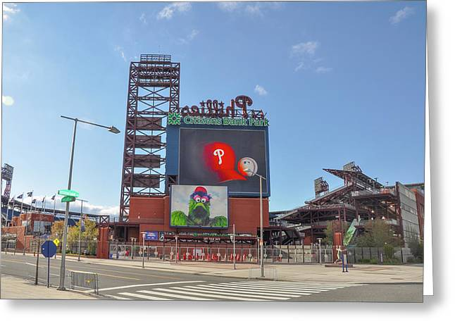 Baseball In Philadelphia - Citizens Bank Park Greeting Card by Bill Cannon