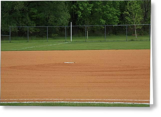 Baseball Infield Greeting Card
