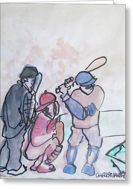 Baseball  Greeting Card by James Christiansen