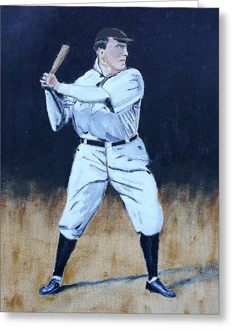 Baseball Legend Greeting Card by Ralph LeCompte