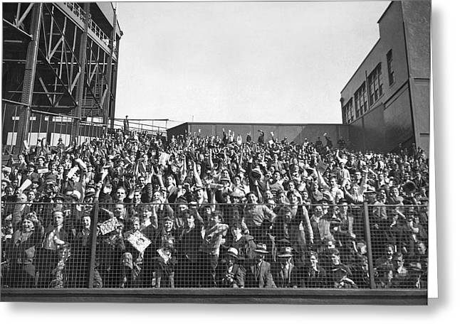 Baseball Opening Day Fans Greeting Card
