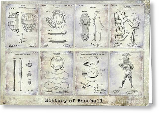 Baseball Patent History Greeting Card by Jon Neidert