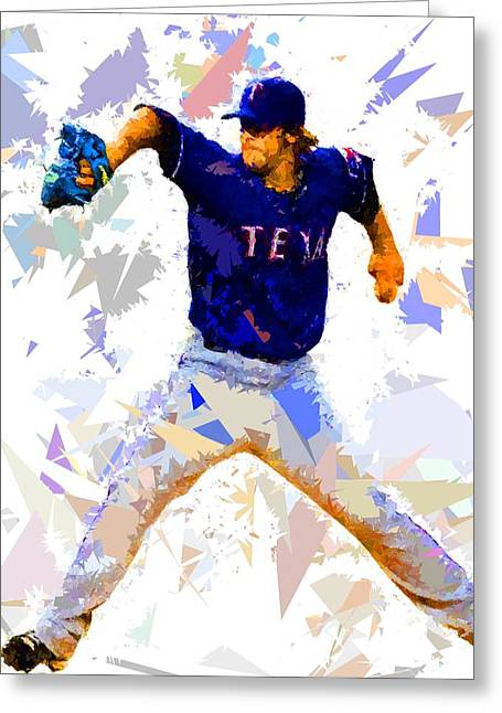 Baseball Pitch Greeting Card by Movie Poster Prints