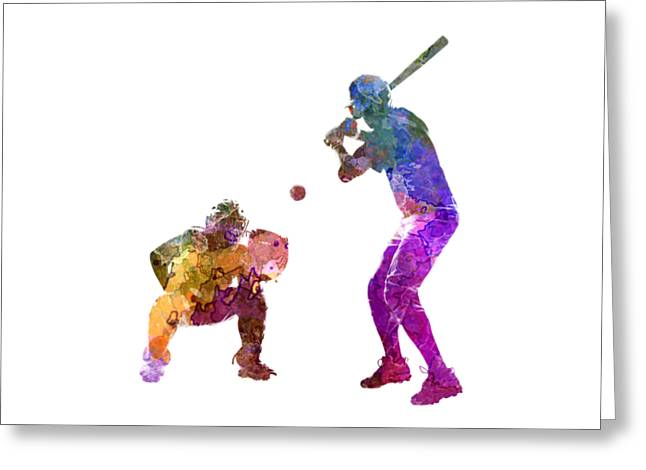 Baseball Players 01 Greeting Card by Pablo Romero