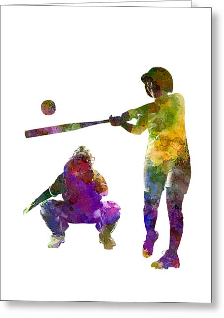 Baseball Players 02 Greeting Card by Pablo Romero