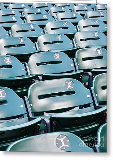 Baseball Stadium Seats Greeting Card by Paul Velgos