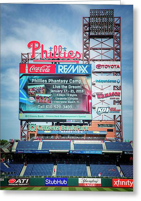 Baseball Time In Philly Greeting Card