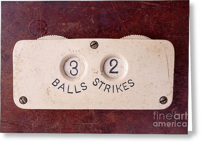 Baseball Umpire Count Keeper Greeting Card