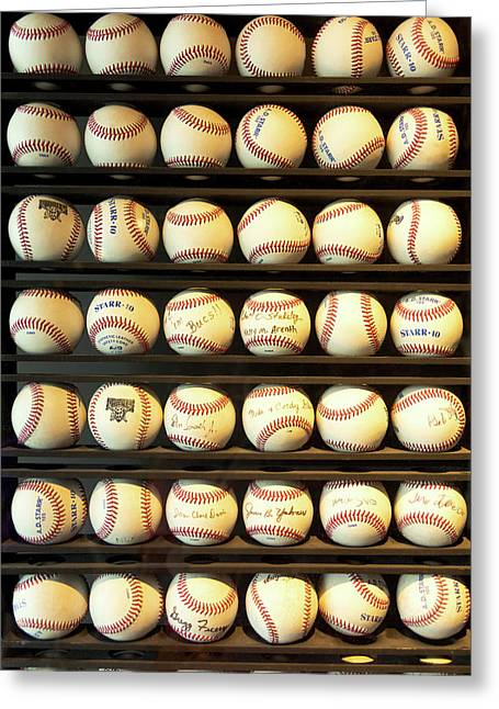 Baseball - You Have Got Some Balls There Greeting Card by Mike Savad