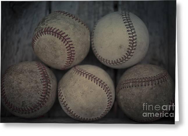 Baseballs Greeting Card by Edward Fielding