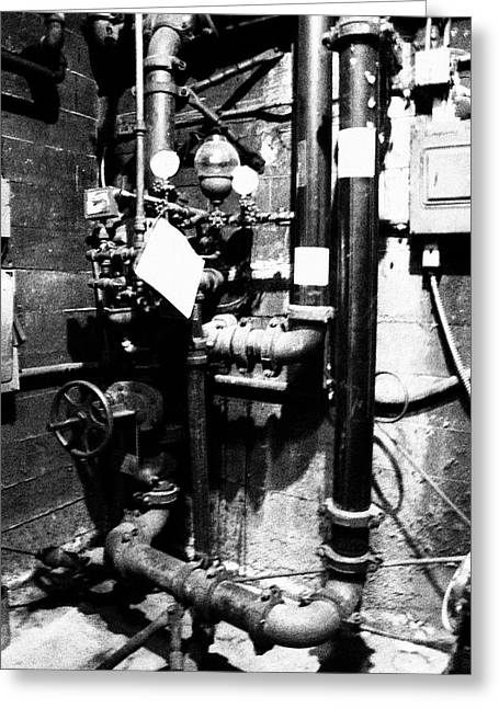 Basement Pipes Greeting Card
