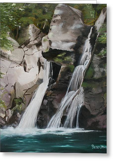Bash Bish Falls Greeting Card by Susan Moore