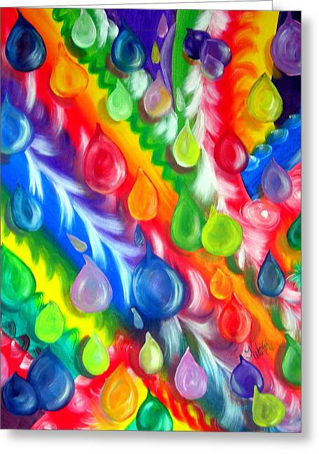 Basic Abstraction Greeting Card by Kathern Welsh
