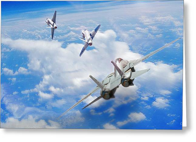 Basic Fighter Maneuvers Greeting Card