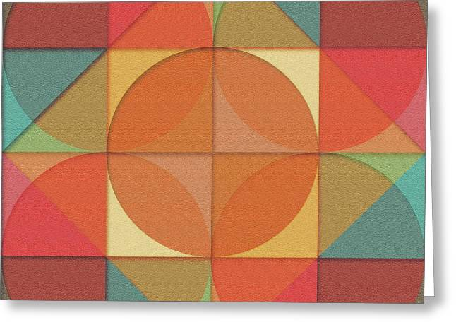 Basic Shapes Greeting Card by Gaspar Avila