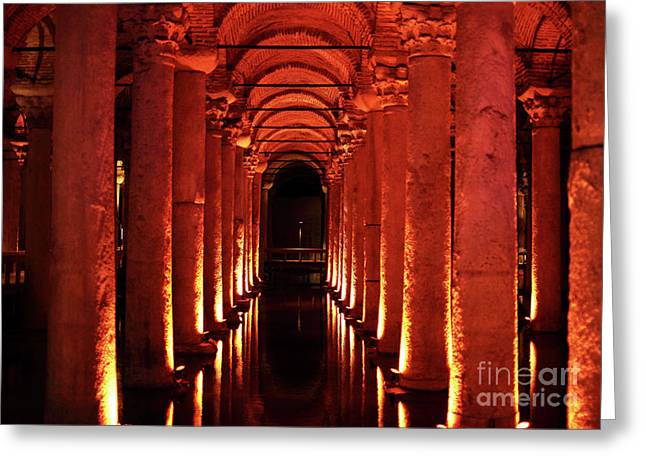 Basilica Cistern Greeting Card by John Rizzuto