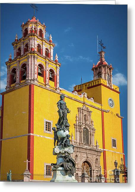 Basilica Facade Greeting Card by Inge Johnsson