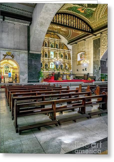 Basilica Minore Del Santo Nino Greeting Card by Adrian Evans