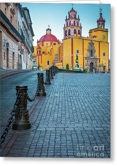Basilica Of Our Lady Of Guanajuato Greeting Card by Inge Johnsson