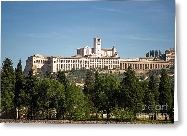 Basilica Of San Francesco D'assisi Greeting Card by Prints of Italy