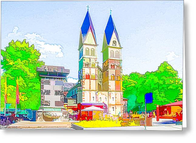 Basilica Of St. Castor Greeting Card by Lanjee Chee