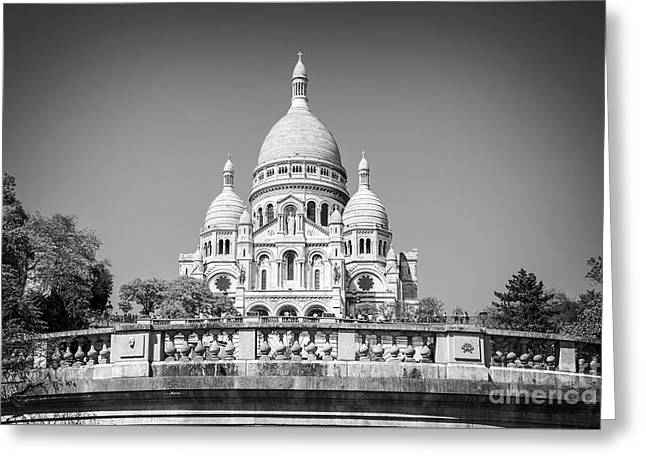 Basilica Of The Sacred Heart In Paris Greeting Card