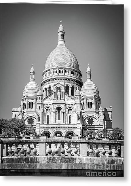 Basilica Of The Sacred Heart In Montmartre Greeting Card