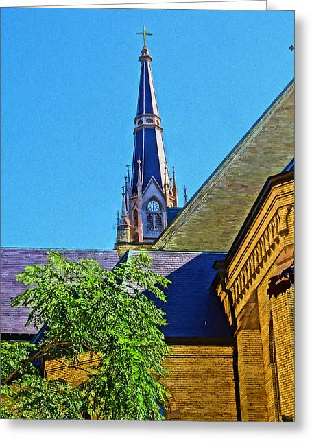Basilica Of The Sacred Heart Notre Dame Greeting Card by Dan Sproul