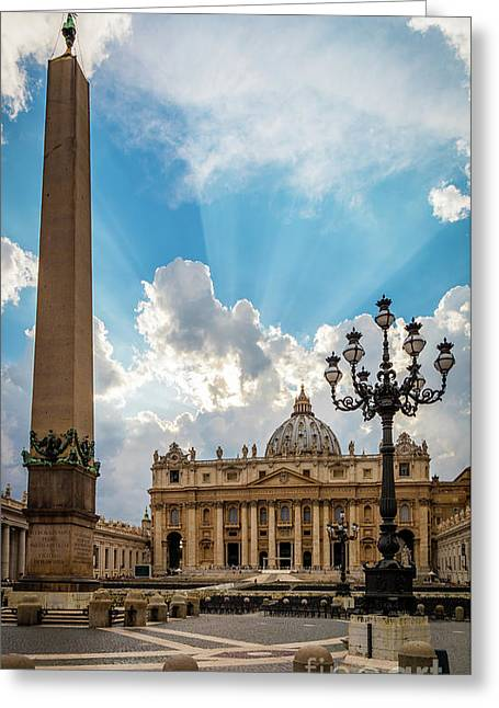 Basilica Papale Di San Pietro Greeting Card by Inge Johnsson