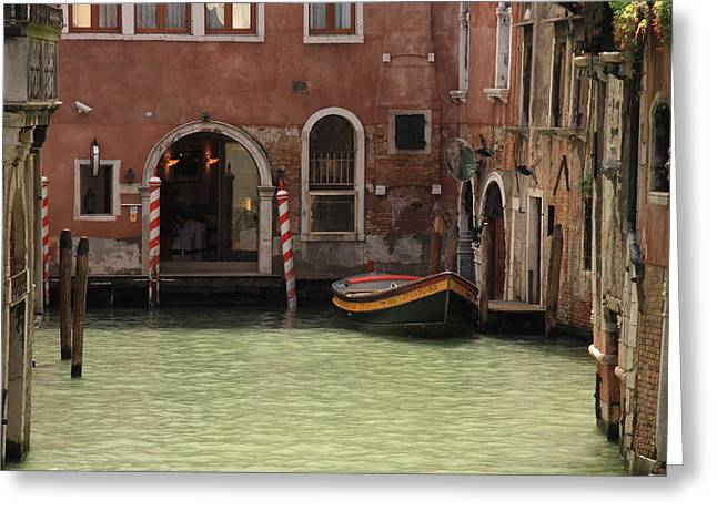 Basin In Venice Greeting Card by Michael Henderson