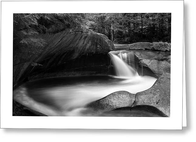Basin Pool - Franconia Notch Nh Greeting Card by Thomas Schoeller